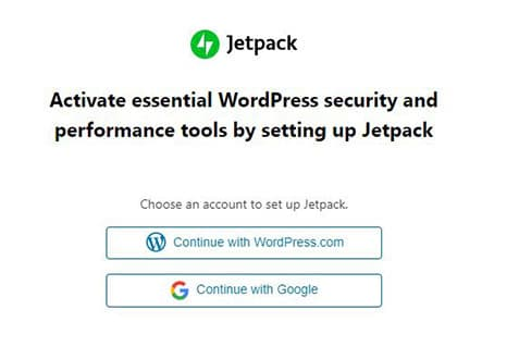 Signup with Jetpack