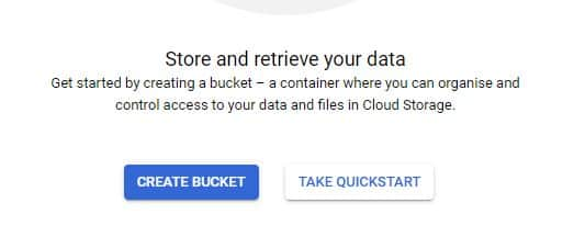 Création de bucket Google Cloud
