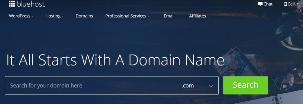 How To Register Domain 2020 - Bluehost domain search