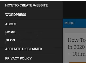 How To Create Simple Website In 2021 - Step by Step Guide - Mobile menu